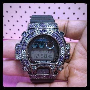 G shock rhinstone filled watch
